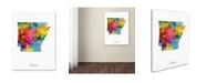 "Trademark Global Michael Tompsett 'Arkansas Map' Canvas Art - 24"" x 32"""