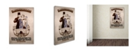 """Trademark Global Vintage Apple Collection 'Underground to Heart of Town' Canvas Art - 12"""" x 19"""""""