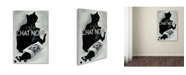 """Trademark Global Vintage Apple Collection 'Chat noir Coffee' Canvas Art - 12"""" x 19"""""""