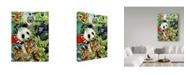"Trademark Global Howard Robinson 'Colorful Jungle Portrait' Canvas Art - 14"" x 19"""