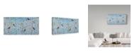 "Trademark Global Jean Plout 'Cardinals Among The Birch' Canvas Art - 10"" x 19"""