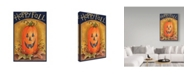 "Trademark Global Melinda Hipsher 'Pumpkin Face Happy Fall' Canvas Art - 12"" x 19"""