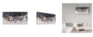 "Trademark Global Wilhelm Goebel 'Close To Cover Bobwhites' Canvas Art - 10"" x 19"""