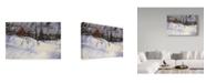 "Trademark Global Wilhelm Goebel 'Cardinal In Winter' Canvas Art - 12"" x 19"""