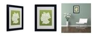 """Trademark Global Michael Tompsett 'OLIVE-Germany Regions Map' Matted Framed Art - 14"""" x 11"""""""