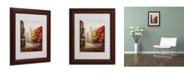 "Trademark Global Rio 'Sunday Morning in Bari Italy' Matted Framed Art - 14"" x 11"""