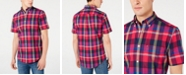 Tommy Hilfiger Men's Custom Fit Rose Plaid Shirt