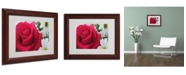 "Trademark Global Monica Fleet 'Pristine' Matted Framed Art - 14"" x 11"""