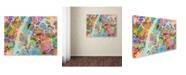 "Trademark Global Michael Tompsett 'New York City Street Map' Canvas Art - 14"" x 19"""