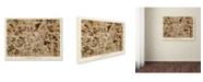 """Trademark Global Michael Tompsett 'Manchester England Street Map II' Canvas Art - 14"""" x 19"""""""