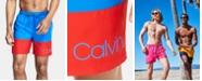 """Calvin Klein Men's Logo 7"""" Swim Trunks, Created for Macy's"""