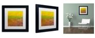 "Trademark Global Michelle Calkins 'Highway Series Soil' Matted Framed Art - 11"" x 11"""
