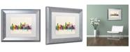 """Trademark Global Michael Tompsett 'Chicago Illinois' Matted Framed Art - 11"""" x 14"""""""