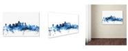 "Trademark Global Michael Tompsett 'Philadelphia Pennsylvania Skyline II' Canvas Art - 12"" x 19"""