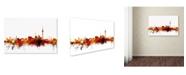 "Trademark Global Michael Tompsett 'Berlin Germany Skyline II' Canvas Art - 12"" x 19"""