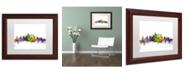 """Trademark Global Michael Tompsett 'Philadelphia Pennsylvania Skyline' Matted Framed Art - 11"""" x 14"""""""
