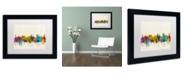 "Trademark Global Michael Tompsett 'Victoria Canada Skyline' Matted Framed Art - 11"" x 14"""
