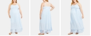 Motherhood Maternity Plus Size Crochet-Trim Maxi Dress