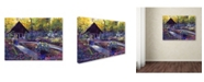 "Trademark Global David Lloyd Glover 'Blue Garden Impression' Canvas Art - 14"" x 19"""