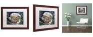"Trademark Global David Lloyd Glover 'English Garden Stroll' Matted Framed Art - 16"" x 20"""