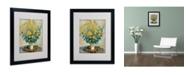 """Trademark Global Claude Monet 'Jerusalem Artichoke Flowers' Matted Framed Art - 20"""" x 16"""""""