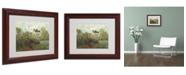 """Trademark Global Claude Monet 'The Artist's Garden' Matted Framed Art - 14"""" x 11"""""""