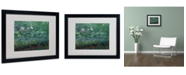 """Trademark Global Claude Monet 'The Waterlily Pond Green' Matted Framed Art - 20"""" x 16"""""""