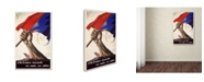 """Trademark Global 'Poster for Liberation of France' Canvas Art - 47"""" x 30"""""""