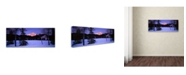 "Trademark Global David Evans 'Pyramid Mountain-Canada' Canvas Art - 47"" x 16"""