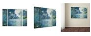 "Trademark Global Claude Monet 'Branch of the Seine' Multi Panel Art Set Large - 25"" x 30"""