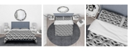 Design Art Designart '3D Lattice Pattern' Scandinavian Duvet Cover Set - King