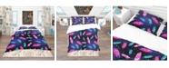 Design Art Designart 'Pattern With Painted Bird Feathers' Southwestern Duvet Cover Set - Queen