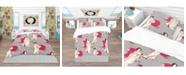 Design Art Designart 'Traditional Japanese Geisha' Oriental Duvet Cover Set - Twin