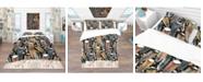 Design Art Designart 'Feathers Pattern' Southwestern Duvet Cover Set - King
