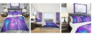 Design Art Designart 'Purple And Blue Wonder' Modern and Contemporary Duvet Cover Set - King