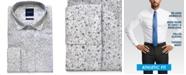 Nick Graham Men's Modern-Fit Performance Stretch Wrinkle-Resistant Floral Stripe Print Dress Shirt