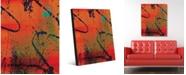 "Creative Gallery Slashing Marks Abstract Portrait Metal Wall Art Print - 16"" x 20"""