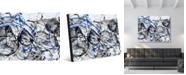 "Creative Gallery Orbit Gamma Abstract Portrait Metal Wall Art Print - 16"" x 20"""