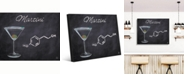 "Creative Gallery Martini on Chalkboard-Background Portrait Metal Wall Art Print - 16"" x 20"""