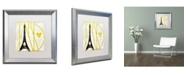 "Trademark Global Color Bakery 'I Love Paris' Matted Framed Art - 16"" x 16"""