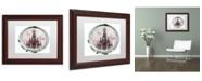 "Trademark Global Color Bakery 'Paris in Frames 5' Matted Framed Art - 11"" x 14"""