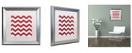 "Trademark Global Color Bakery 'Xmas chevron 8' Matted Framed Art - 16"" x 16"""