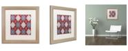 "Trademark Global Color Bakery 'Set 1 A' Matted Framed Art - 16"" x 16"""