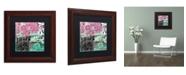 "Trademark Global Color Bakery 'Serendipity II' Matted Framed Art - 11"" x 11"""