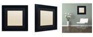 "Trademark Global Color Bakery 'English Garden IV' Matted Framed Art - 11"" x 11"""