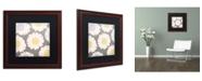 "Trademark Global Color Bakery 'English Garden V' Matted Framed Art - 16"" x 16"""