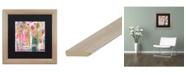 """Trademark Global Carrie Schmitt 'Pink Melody' Matted Framed Art - 16"""" x 16"""""""