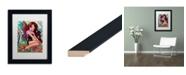 "Trademark Global Natasha Wescoat 'Rainbow Angel' Matted Framed Art - 11"" x 14"""