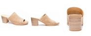 Dirty Laundry Take All Split Peep Toe Mules