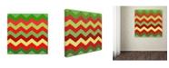 "Trademark Global Color Bakery 'Xmas Chevron' Canvas Art - 35"" x 35"""